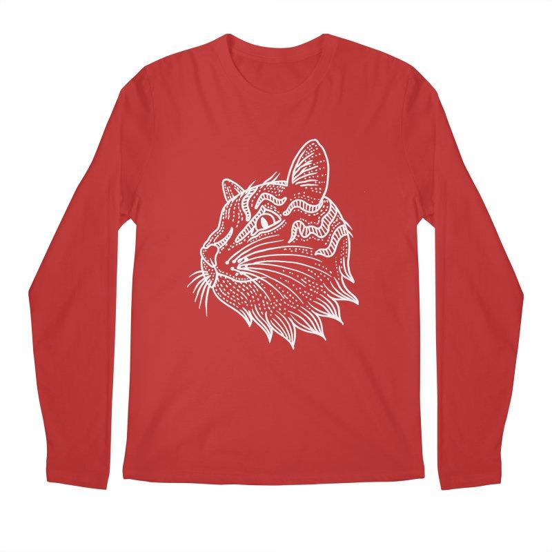 Smart Kitty Men's Regular Longsleeve T-Shirt by pesst's Artist Shop