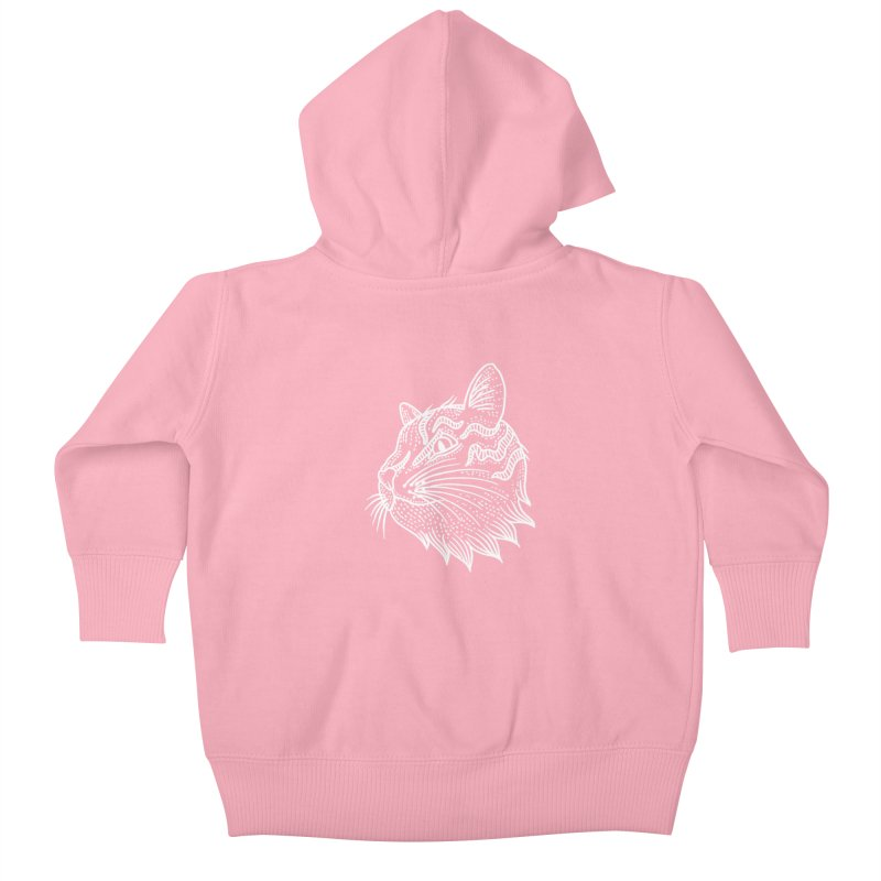 Smart Kitty Kids Baby Zip-Up Hoody by pesst's Artist Shop