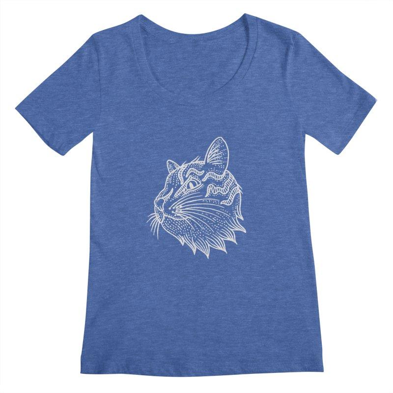 Smart Kitty Women's Scoopneck by pesst's Artist Shop