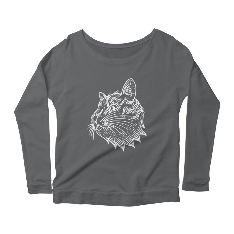 Smart Kitty Women's Scoop Neck Longsleeve T-Shirt by pesst's Artist Shop