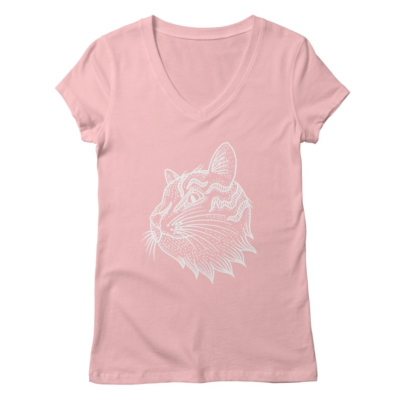 Smart Kitty Women's Regular V-Neck by pesst's Artist Shop