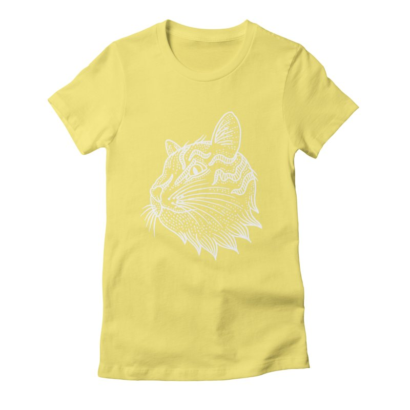 Smart Kitty Women's Fitted T-Shirt by pesst's Artist Shop