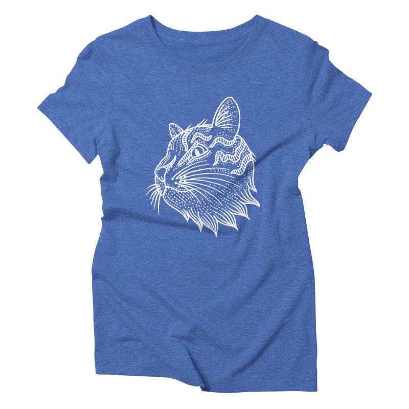 Smart Kitty Women's Triblend T-Shirt by pesst's Artist Shop