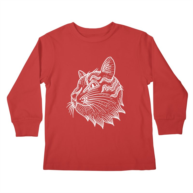 Smart Kitty Kids Longsleeve T-Shirt by pesst's Artist Shop