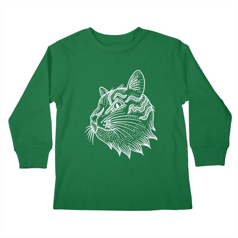 Smart Kitty Kids Longsleeve T-Shirt by pesst's Artist Shop