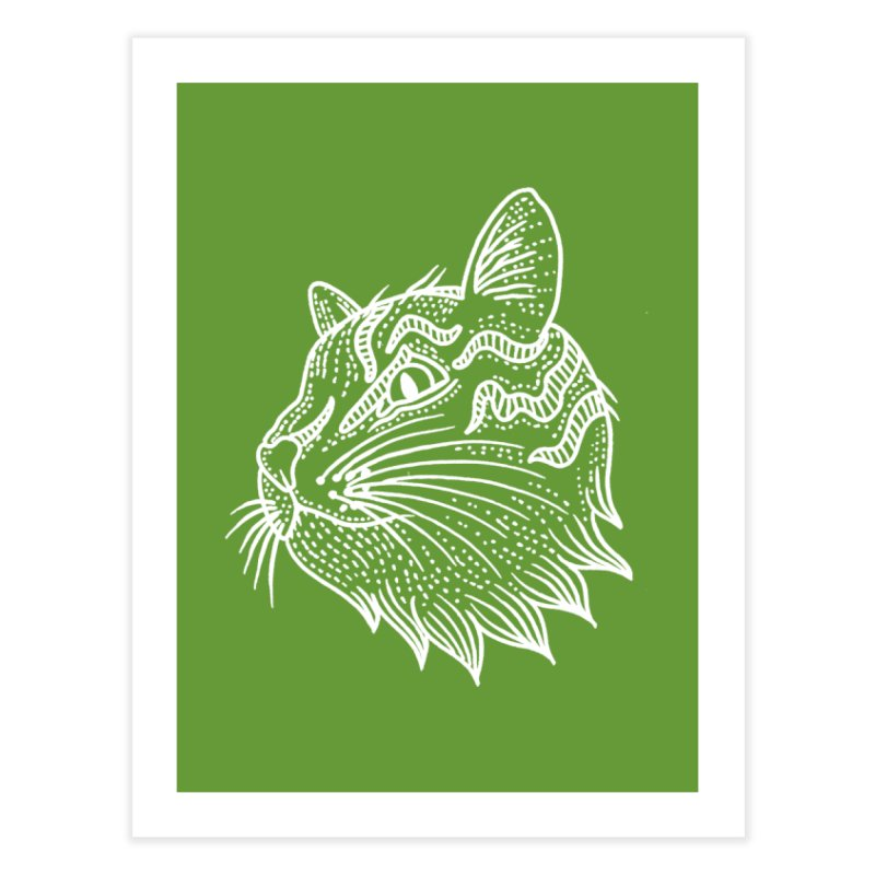Smart Kitty Home Fine Art Print by pesst's Artist Shop