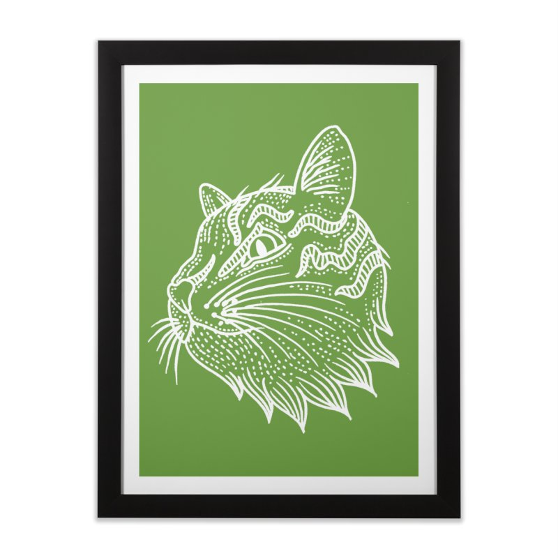 Smart Kitty Home Framed Fine Art Print by pesst's Artist Shop