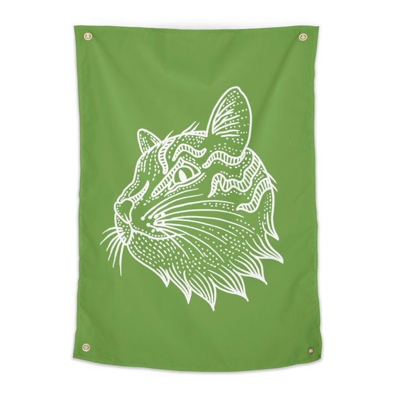 Smart Kitty Home Tapestry by pesst's Artist Shop