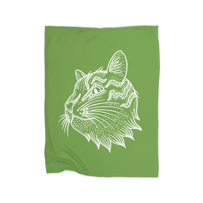 Smart Kitty Home Fleece Blanket Blanket by pesst's Artist Shop