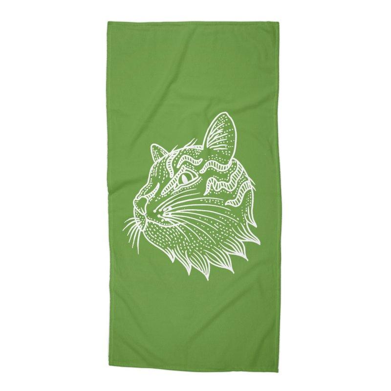 Smart Kitty Accessories Beach Towel by pesst's Artist Shop