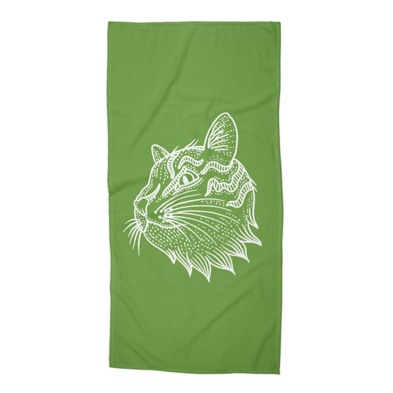 Smart Kitty Accessories Beach Towel by pesst's Artist Shop