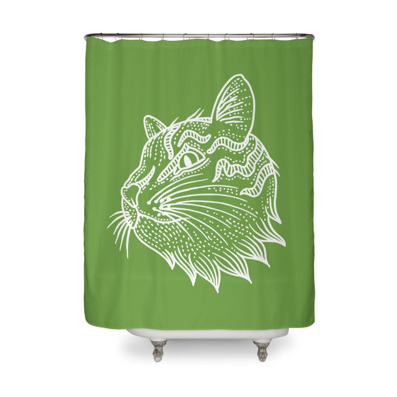 Smart Kitty Home Shower Curtain by pesst's Artist Shop
