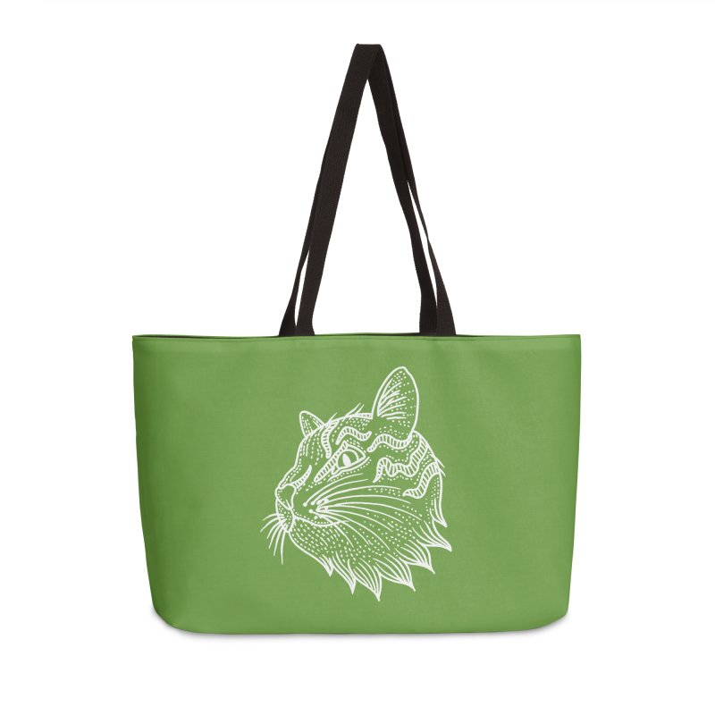 Smart Kitty Accessories Weekender Bag Bag by pesst's Artist Shop