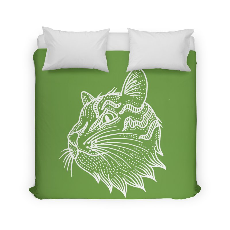 Smart Kitty Home Duvet by pesst's Artist Shop