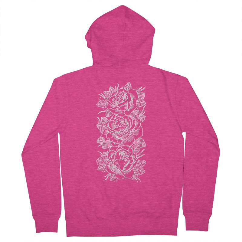 Negative Attitude Roses Women's French Terry Zip-Up Hoody by pesst's Artist Shop