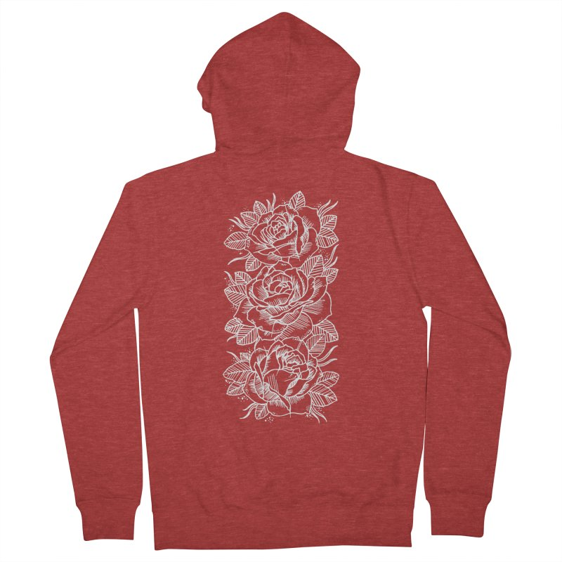 Negative Attitude Roses Men's French Terry Zip-Up Hoody by pesst's Artist Shop