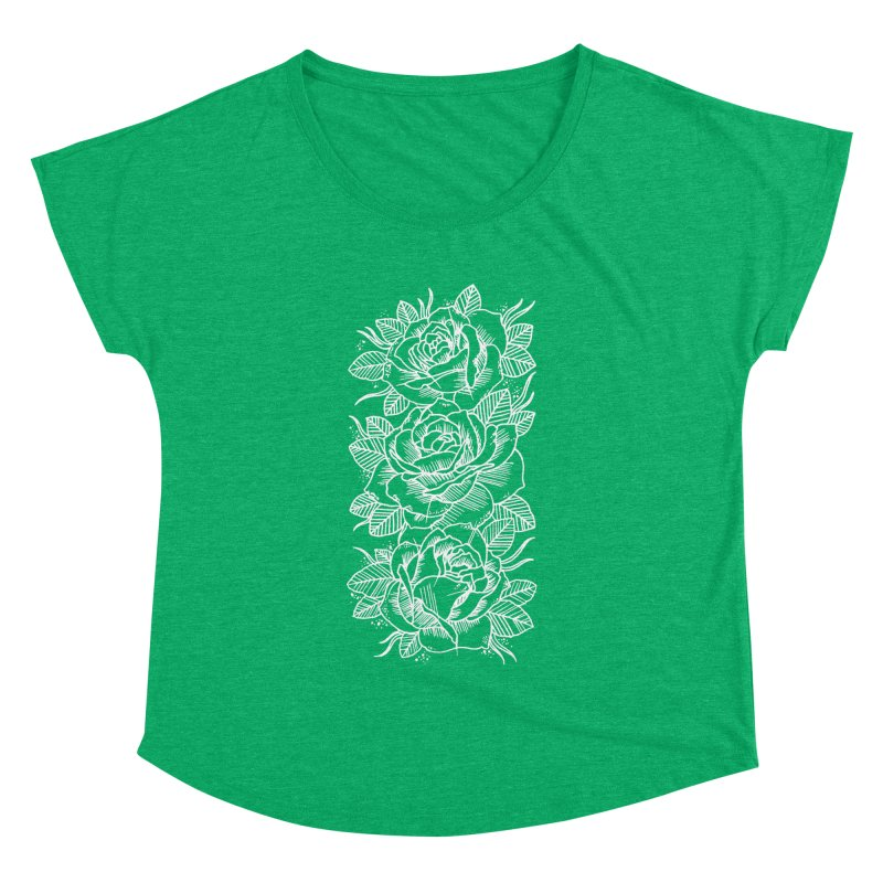 Negative Attitude Roses Women's Dolman Scoop Neck by pesst's Artist Shop