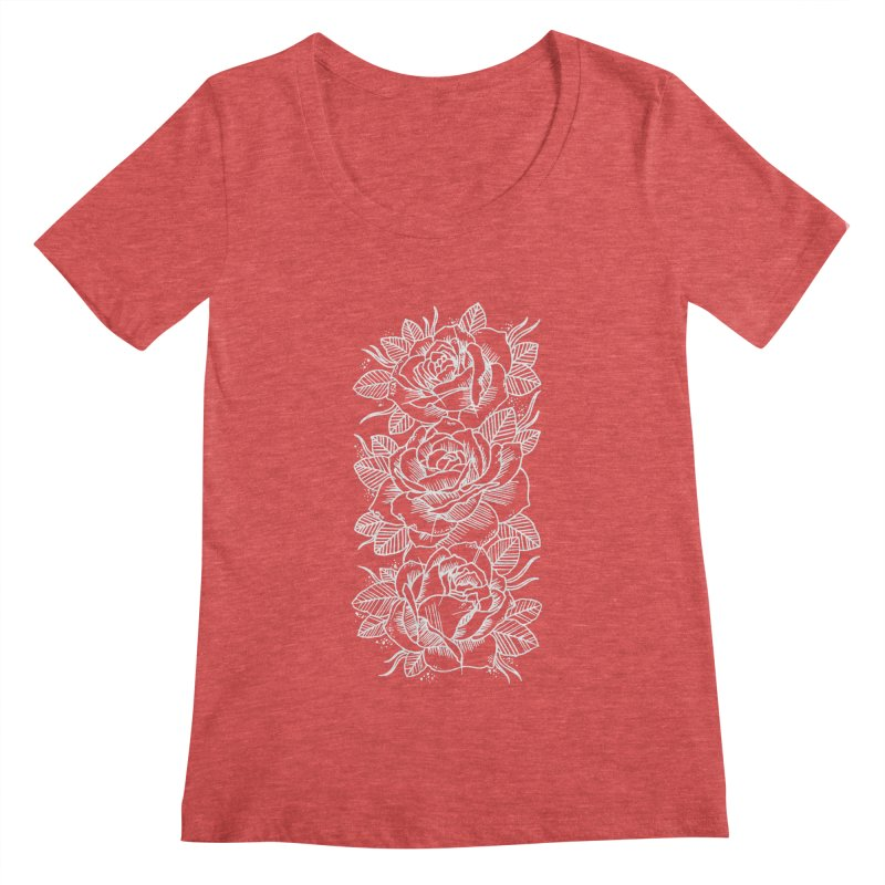 Negative Attitude Roses Women's Scoopneck by pesst's Artist Shop