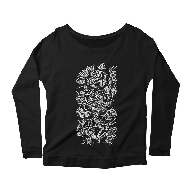 Negative Attitude Roses Women's Longsleeve Scoopneck  by pesst's Artist Shop