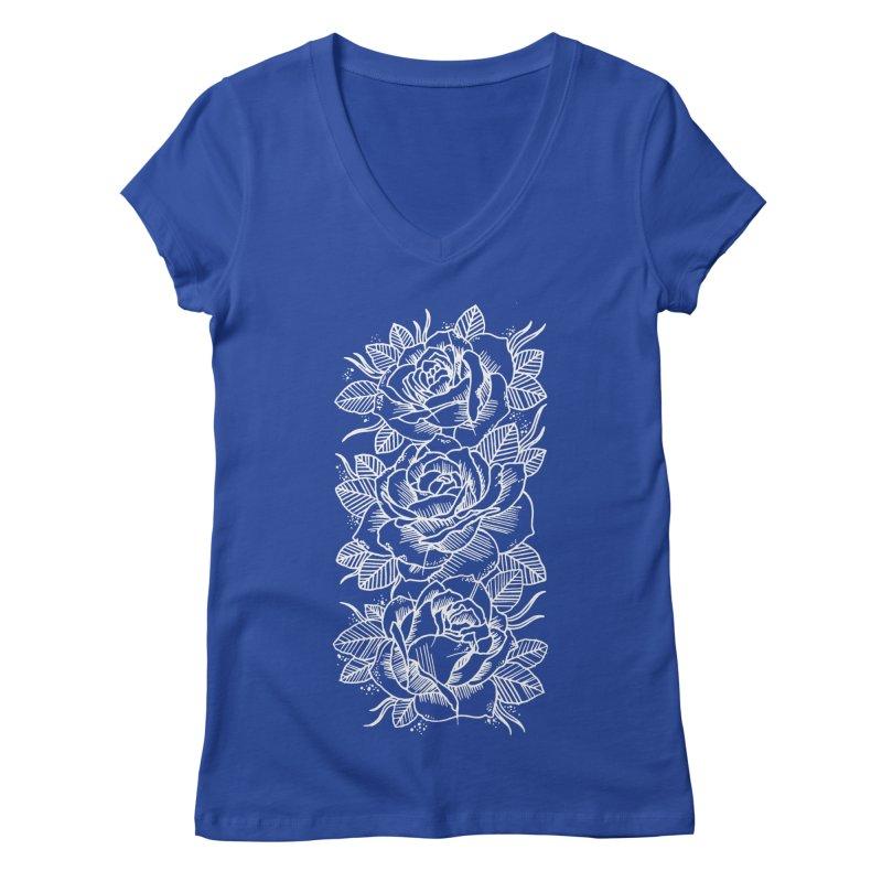 Negative Attitude Roses Women's Regular V-Neck by pesst's Artist Shop