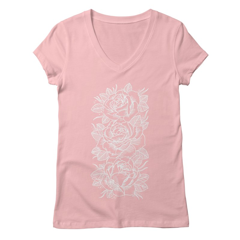 Negative Attitude Roses Women's Regular V-Neck by pesst's Artist Shop