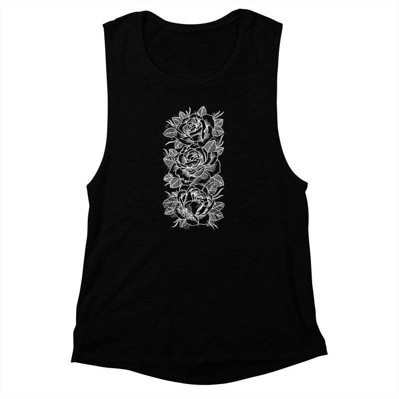 Negative Attitude Roses Women's Muscle Tank by pesst's Artist Shop