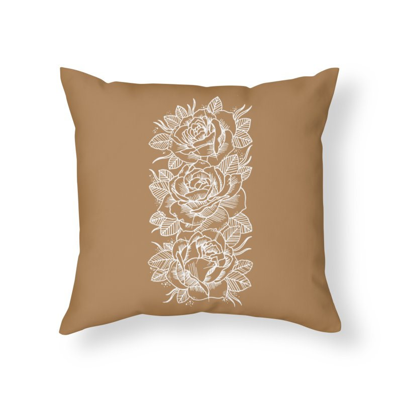 Negative Attitude Roses Home Throw Pillow by pesst's Artist Shop