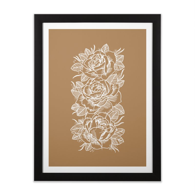 Negative Attitude Roses Home Framed Fine Art Print by pesst's Artist Shop