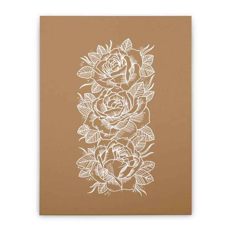 Negative Attitude Roses Home Stretched Canvas by pesst's Artist Shop