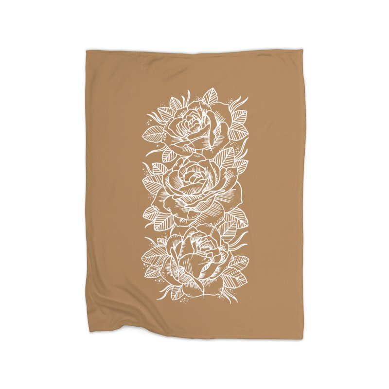 Negative Attitude Roses Home Fleece Blanket Blanket by pesst's Artist Shop