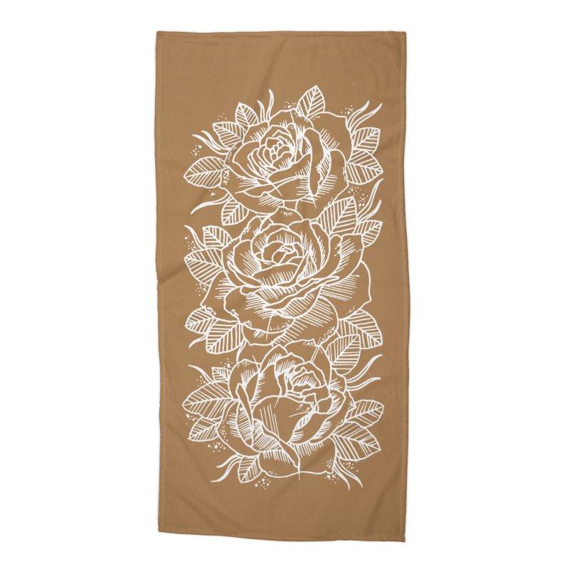 Negative Attitude Roses Accessories Beach Towel by pesst's Artist Shop