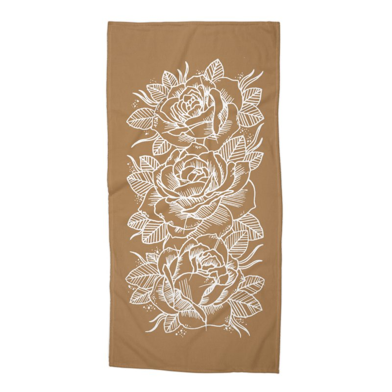 Negative Attitude Roses Accessories Beach Towel by pesst's Artist Shop