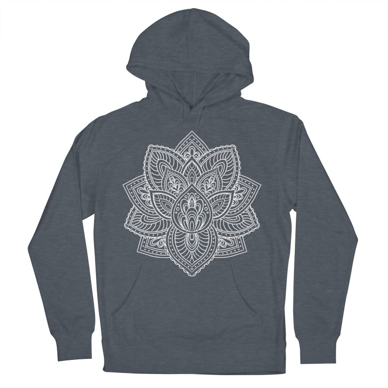 Paisley Lotus Women's French Terry Pullover Hoody by pesst's Artist Shop