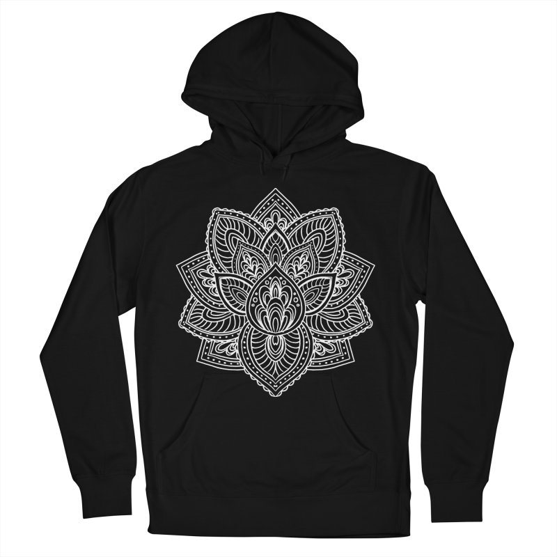 Paisley Lotus Men's French Terry Pullover Hoody by pesst's Artist Shop