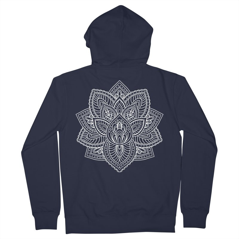 Paisley Lotus Women's French Terry Zip-Up Hoody by pesst's Artist Shop