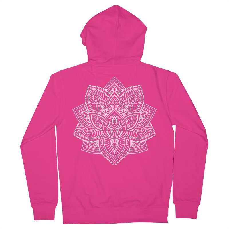 Paisley Lotus Men's French Terry Zip-Up Hoody by pesst's Artist Shop