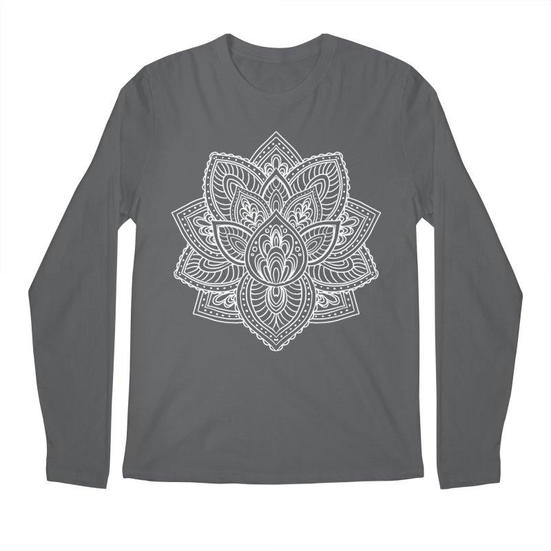 Paisley Lotus Men's Regular Longsleeve T-Shirt by pesst's Artist Shop