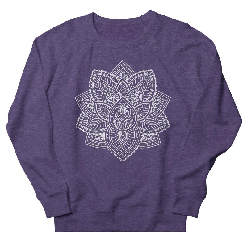 Paisley Lotus Men's French Terry Sweatshirt by pesst's Artist Shop