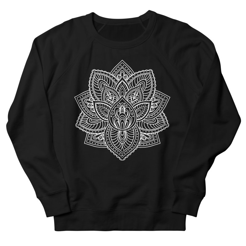 Paisley Lotus Men's French Terry Sweatshirt by pesst's Artist Shop