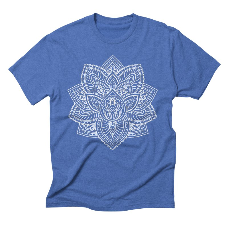 Paisley Lotus Men's Triblend T-Shirt by pesst's Artist Shop