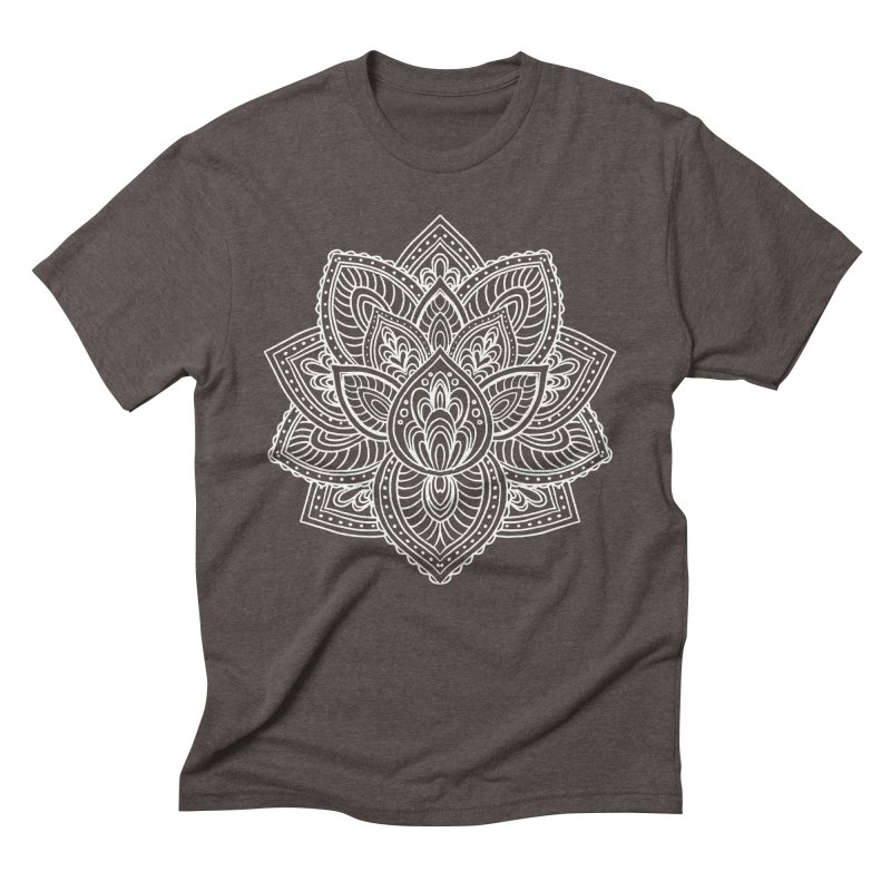 Paisley Lotus Men's Triblend T-Shirt by pesst's Artist Shop