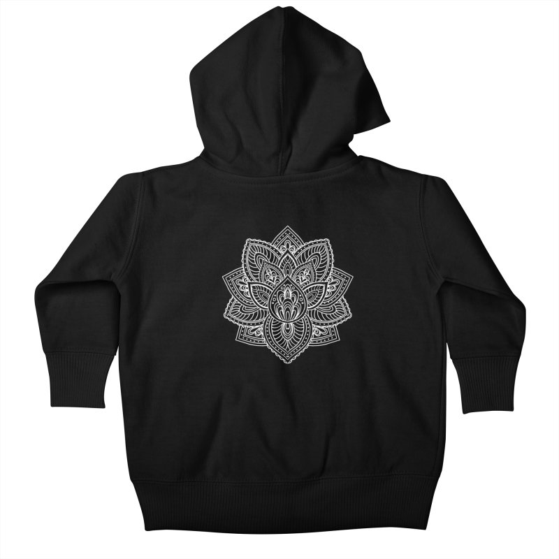 Paisley Lotus Kids Baby Zip-Up Hoody by pesst's Artist Shop
