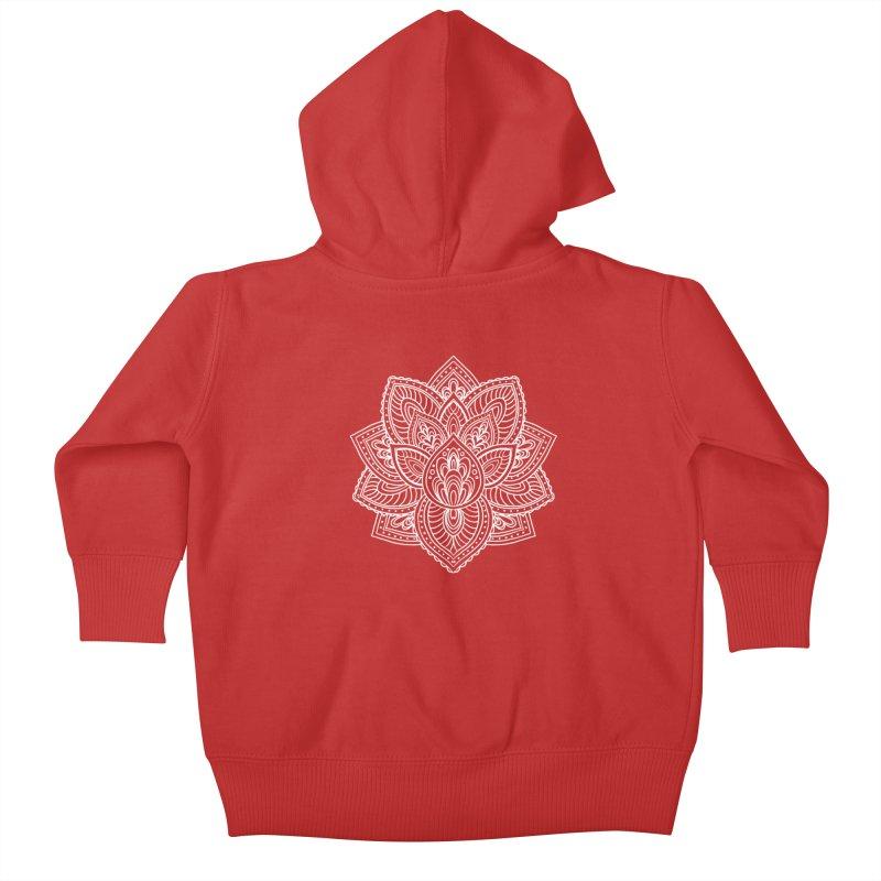 Paisley Lotus Kids Baby Zip-Up Hoody by pesst's Artist Shop