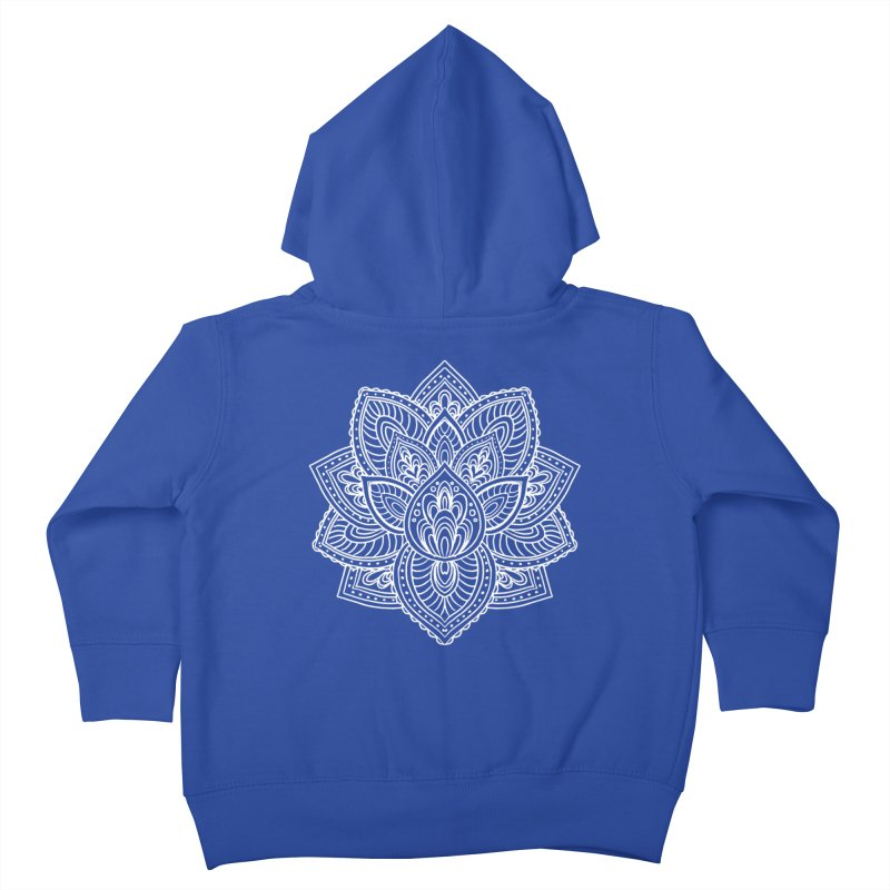 Paisley Lotus Kids Toddler Zip-Up Hoody by pesst's Artist Shop