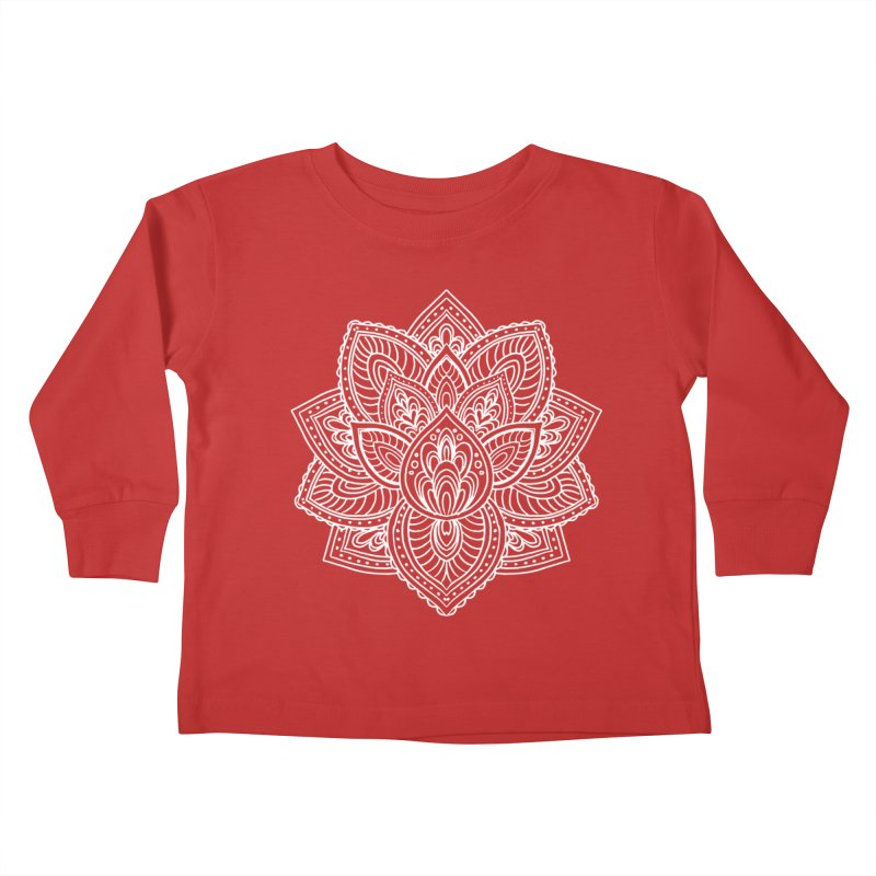 Paisley Lotus Kids Toddler Longsleeve T-Shirt by pesst's Artist Shop