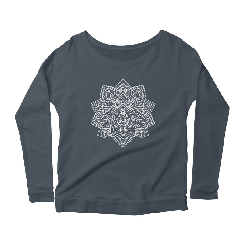 Paisley Lotus Women's Scoop Neck Longsleeve T-Shirt by pesst's Artist Shop