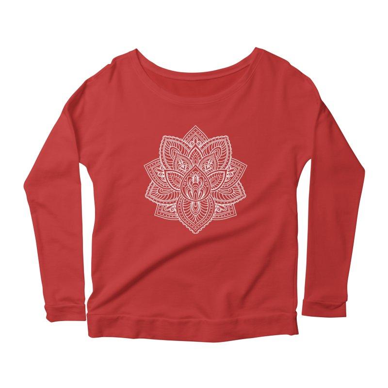 Paisley Lotus Women's Longsleeve Scoopneck  by pesst's Artist Shop