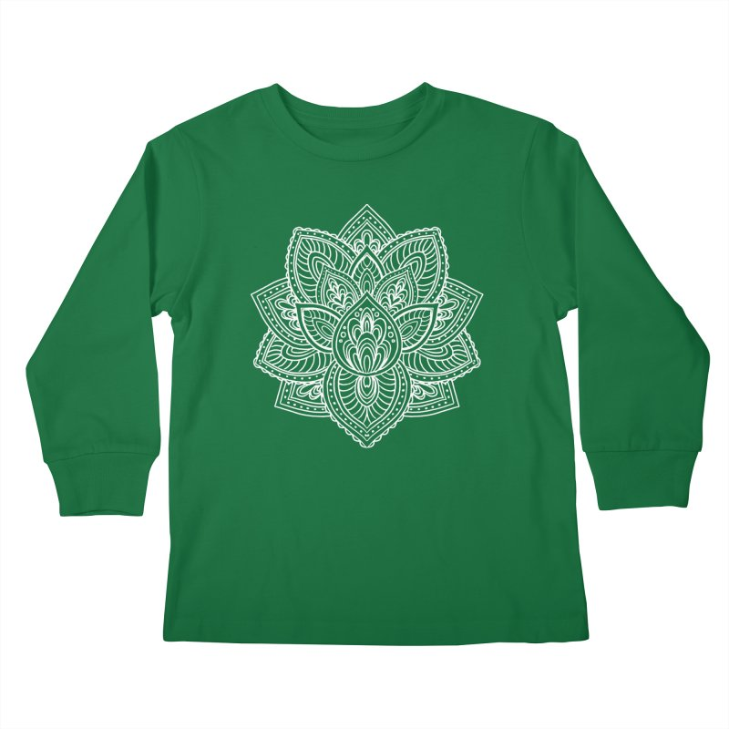 Paisley Lotus Kids Longsleeve T-Shirt by pesst's Artist Shop