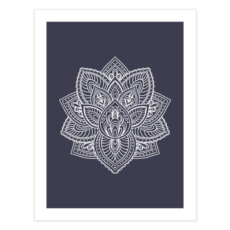 Paisley Lotus Home Fine Art Print by pesst's Artist Shop