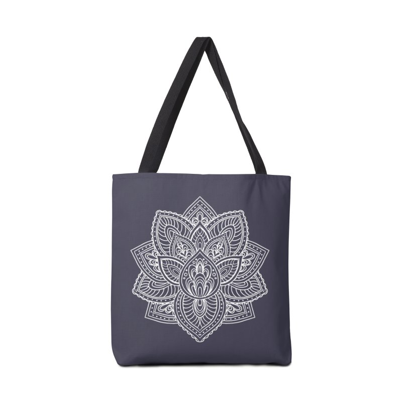 Paisley Lotus Accessories Tote Bag Bag by pesst's Artist Shop